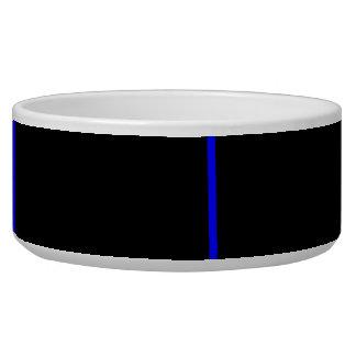 Thin blue line dog bowl