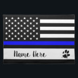 """Thin Blue Line Dog Placemat - Police Officer<br><div class=""""desc"""">Thin Blue Line Dog Placemat - Police Officer - K9 Police Dog Police Mom - Police Wife Gifts</div>"""