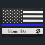 "Thin Blue Line Dog Placemat - Police Officer<br><div class=""desc"">Thin Blue Line Dog Placemat - Police Officer - K9 Police Dog
