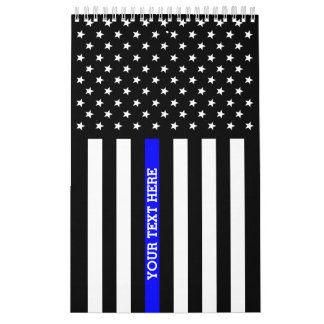 Thin Blue Line (DOUBLE SIDED, And All Pages) Calendar