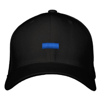 Thin Blue Line Embroidered Baseball Cap