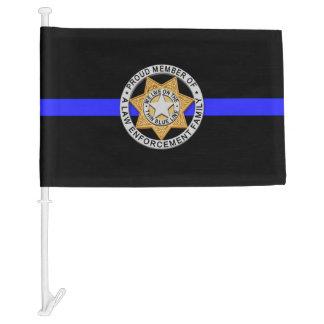 Thin Blue Line Family Badge Car Flag