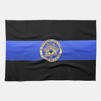 Thin Blue Line Flag & Badge Hand Towel