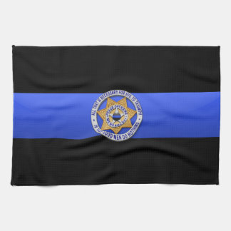 Thin Blue Line Flag & Badge Hand Towel