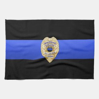 Thin Blue Line Flag & Badge Kitchen Towel