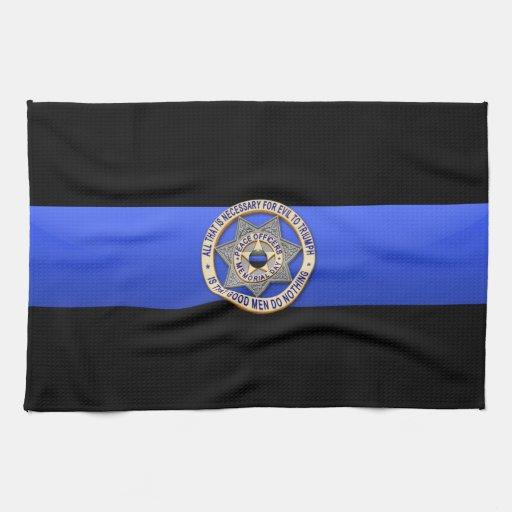Thin Blue Line Flag & Badge Kitchen Towels   Zazzle