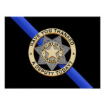 Thin Blue Line Flag & Badge Print