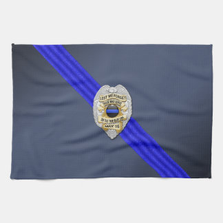 Thin Blue Line Flag & Badge Towels
