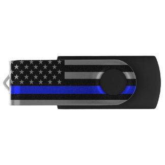 Thin Blue Line Flag Black 16GB Thumb Drive