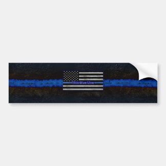 Thin Blue Line Flag Bumper Sticker
