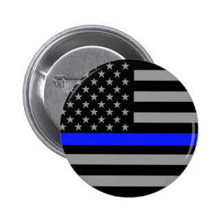 Thin Blue Line Flag Button