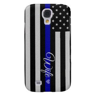 Thin Blue Line Flag Galaxy S4 Case