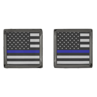 Thin Blue Line Flag Cufflinks