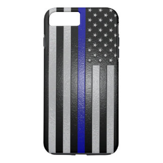 Thin Blue Line Flag Edged iPhone Plus 6 Case