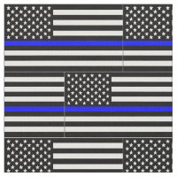 Thin blue line Flag Fabric