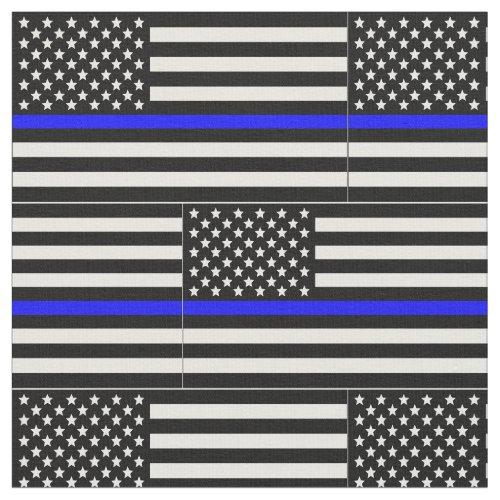 Thin blue line Flag Fabric