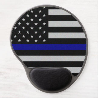 Thin Blue Line Flag Gel Mouse Pad