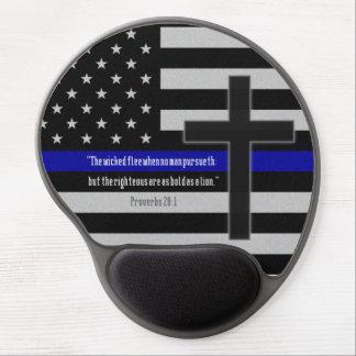 Thin Blue Line Flag Gel Mouse Pad