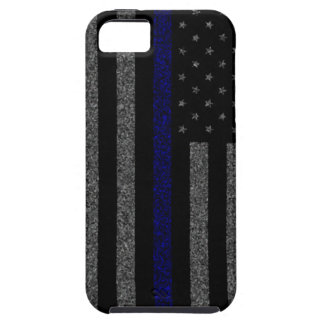 Thin Blue Line Flag Grunge iPhone 5 Case