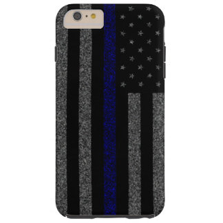 Thin Blue Line Flag Grunge iPhone 6 Plus Case