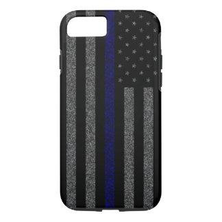 Thin Blue Line Flag Grunge iPhone 7 Case
