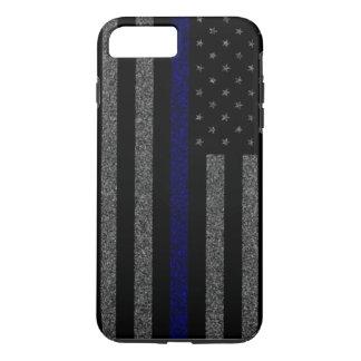 Thin Blue Line Flag Grunge iPhone 7 Plus Case