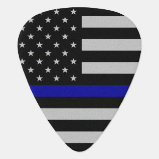 Thin Blue Line Flag Guitar Pick