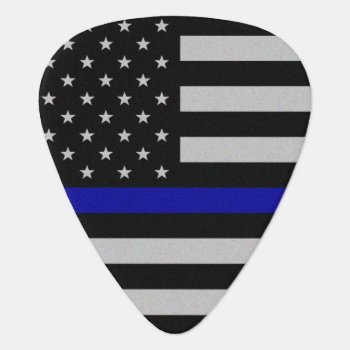 Thin Blue Line Flag Guitar Pick by ThinBlueLineDesign at Zazzle