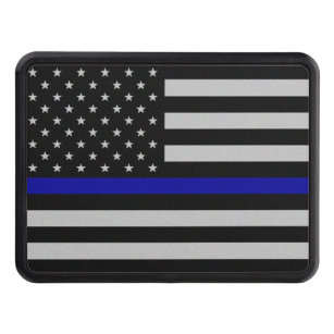 Thin Blue Line Flag Hitch Cover