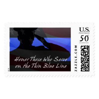 Thin Blue Line - Flag Honor Postage