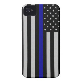 Thin Blue Line Flag iPhone 4 Case