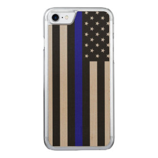Thin Blue Line Flag iPhone 6 Carved iPhone 7 Case