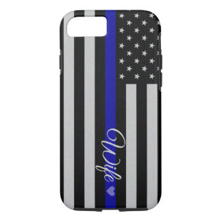 Thin Blue Line Flag iPhone 7 Case
