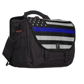 Thin Blue Line Flag Bag For Laptop