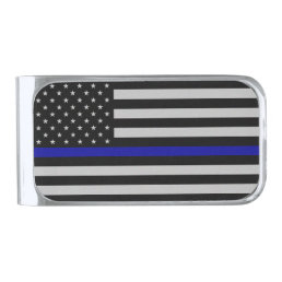 Thin Blue Line Flag Money Clip