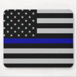 """Thin Blue Line Flag Mouse Pad<br><div class=""""desc"""">Thin Blue Line Flag *All of my work is done by scratch and each graphic and pieces of literature have taken me hours upon days to complete. I&#39;m proud and protective of my work so I ask that you do not take my designs and/or literature and use it to sell...</div>"""
