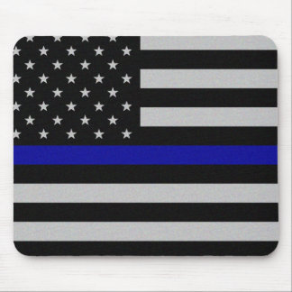 Thin Blue Line Flag Mouse Pad