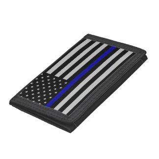 Thin Blue Line Flag Nylon Wallet