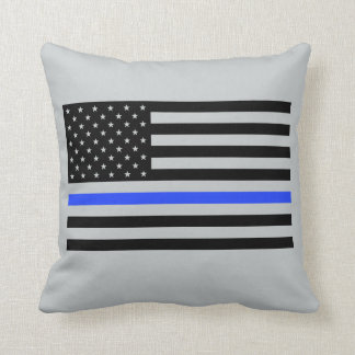 Thin Blue Line Flag Pillow