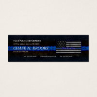 Law enforcement business cards templates zazzle magnetic business cards thin blue line flag police officer accmission Image collections