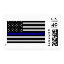 Thin Blue Line Flag Postage