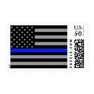 Thin Blue Line Flag Postage Stamps