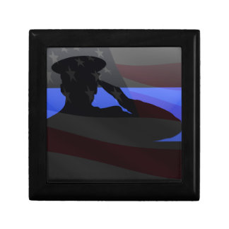 Thin Blue Line - Flag Salute Gift Box