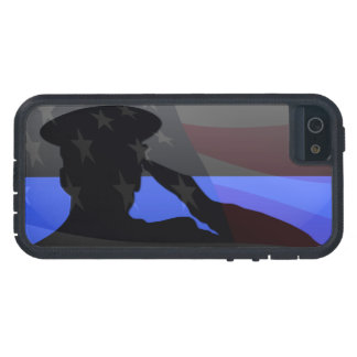 Thin Blue Line - Flag Salute iPhone 5 Case
