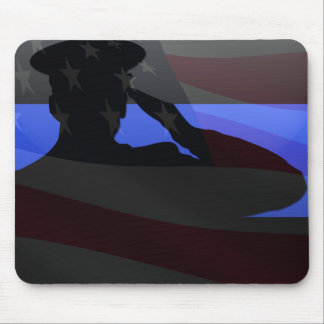 Thin Blue Line - Flag Salute Mouse Pad