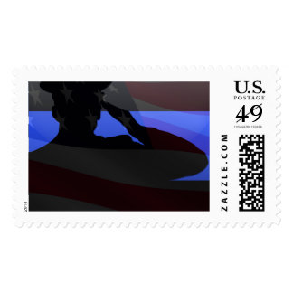 Thin Blue Line - Flag Salute Stamp