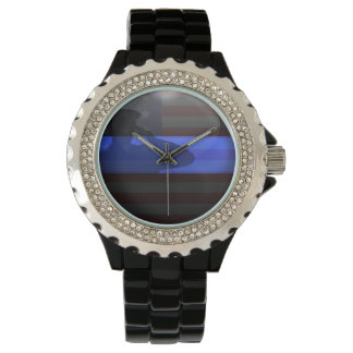 Thin Blue Line - Flag Salute Wristwatch