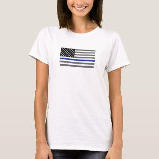 """Thin Blue Line"" Flag T- T-Shirt"