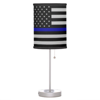 Thin Blue Line Flag Table Lamp