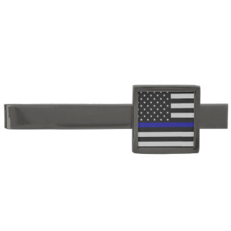 Thin Blue Line Flag Tie Bar